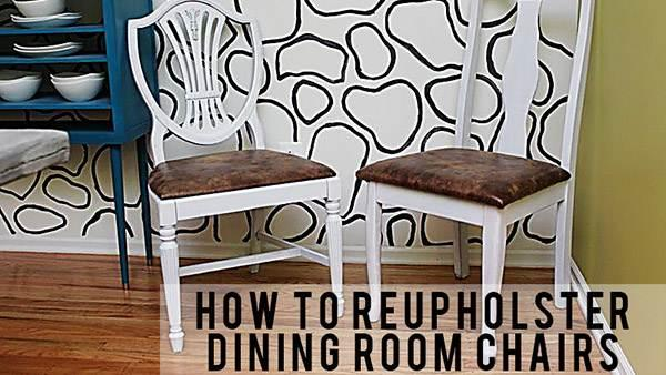 DIY Dining Room Chair Set from Mismatched Thrifted Chairs