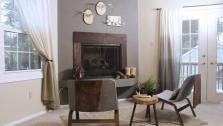 DIY Faux Stucco Fireplace