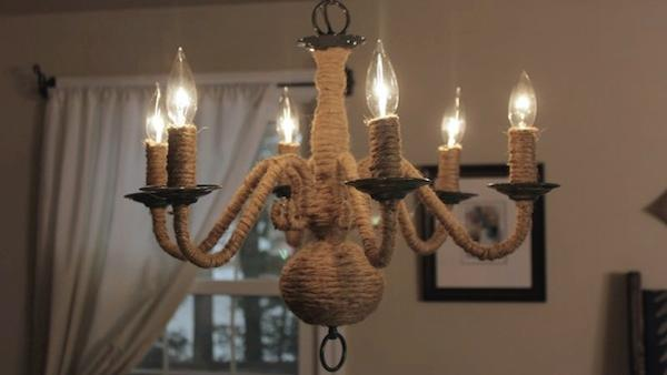 Diy Rope Chandelier Diy rope chandelier knock it off the live well network diy rope wrapped chandelier audiocablefo
