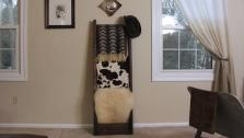 DIY Rustic Blanket Ladder