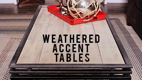 DIY Weathered Coffee Table