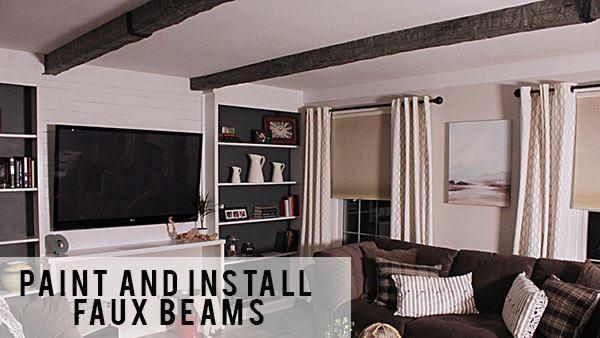 DIY Faux Ceiling Beams | Knock It Off! | The Live Well Network