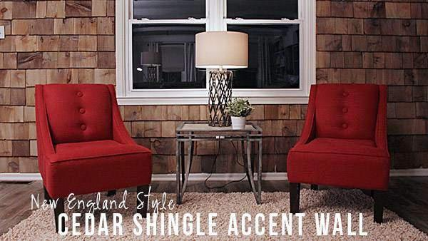 DIY Cedar Shingle Accent Wall