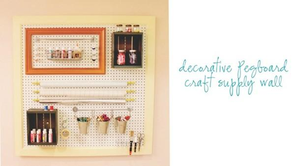 DIY Pegboard Craft Supply Storage And Organization