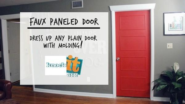 How to Create DIY Faux Paneled Doors & DIY Faux Paneled Doors | Knock It Off! | The Live Well Network