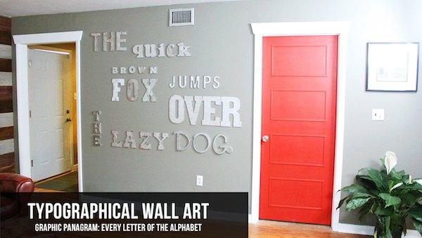 diy decorative faux metal letter wall art