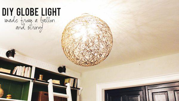 DIY String Globe Light Fixture Knock It Off The Live