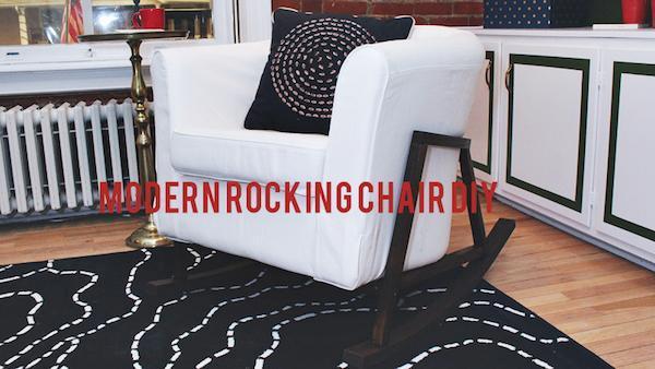 DIY Modern Rocking Chair