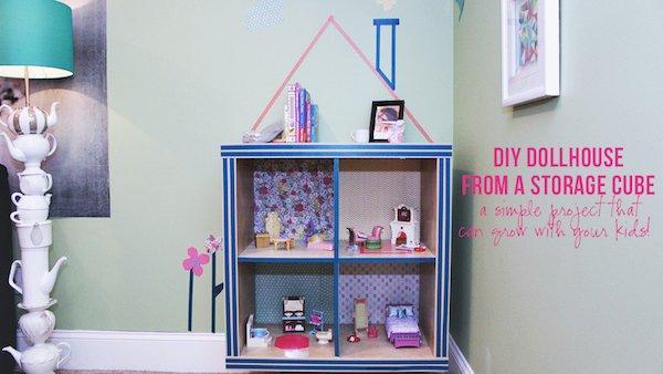 DIY Dollhouse from Cube Shelf Unit