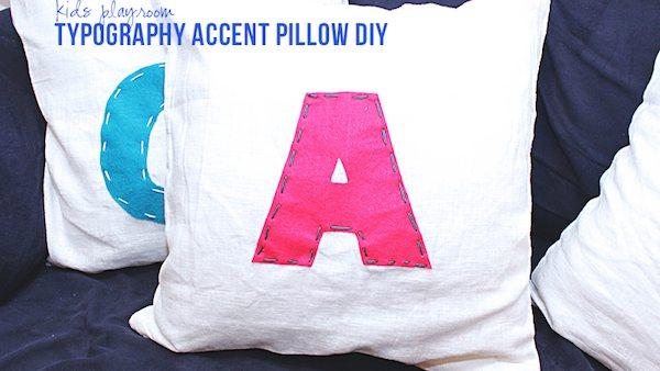 DIY Alphabet Pillows