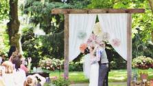 DIY Rustic Wooden Wedding Arbor