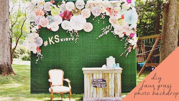 Great DIY Photo Booth Backdrop