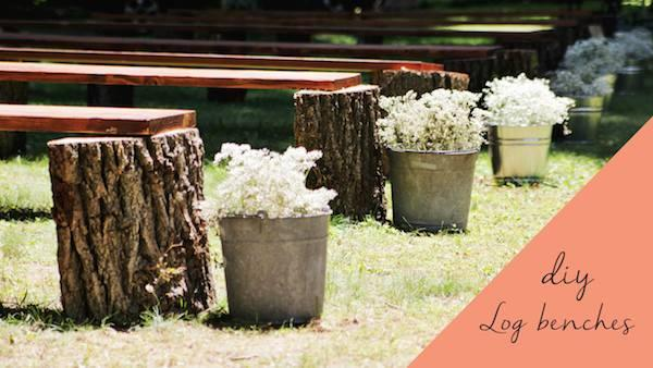 DIY Rustic Wedding Benches