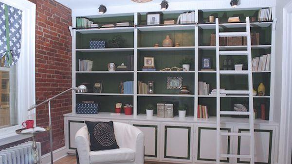 DIY Built-In Bookcase Makeover - DIY Built-In Bookcase Makeover Knock It Off! The Live Well Network