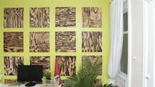 Modern Rustic Plywood Accent Wall
