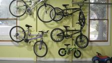 DIY Hanging Bike Rack