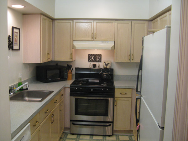 Photos galley kitchen makeover knock it off the live for Galley kitchen remodel before and after