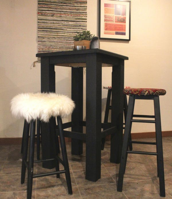 These plain bar stools got a stylish upgrade...