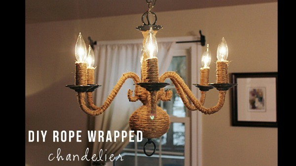 Diy Rope Chandelier Photos diy rope chandelier knock it off the live well network 1 of 3 there is no easier way to add rustic texture to a room than this rope wrapped chandelier with only a few materials and a couple of hours audiocablefo