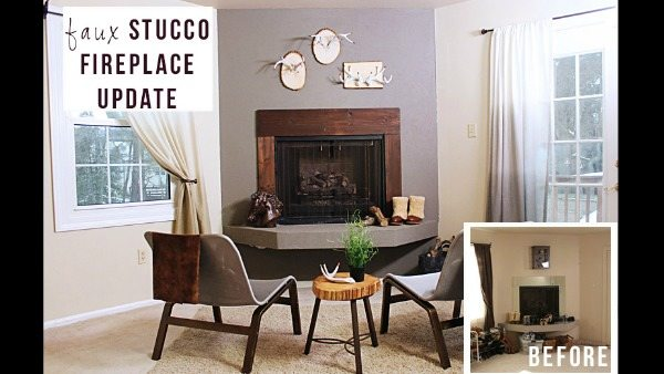 stucco fireplaces. 1 of 6  Want to give your fireplace loads texture without calling in a mason We ve got the trick textured paint This special can be found at Photos Faux Stucco Fireplace Knock It Off The Live Well Network