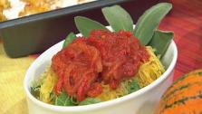 Spaghetti Squash With Pepper Marinara Sauce