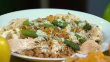Chicken Breast with Wild and Long Grain Lemon Rice With Asparagus