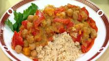 Red Pepper and Garbanzo Tagine