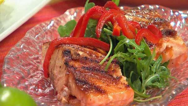 Asian marinated salmon let 39 s dish the live well network for Asia asian cuisine richmond hill menu