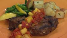 Grilled Tenderloin with Mango Chutney