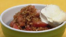 Rhubarb and Pecan Brown Betty
