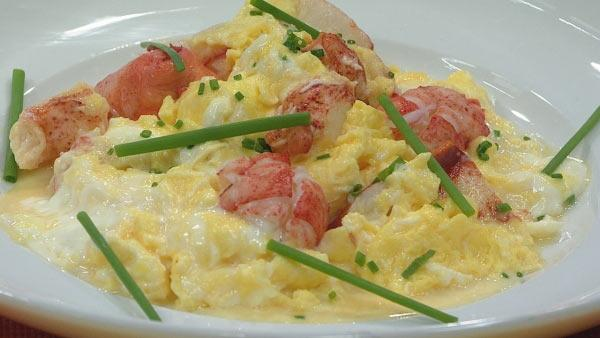 Lobster Scrambled Eggs - Let's Dish | The Live Well Network