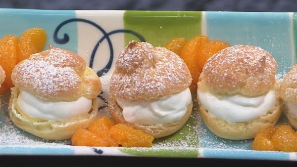 Profiteroles with Grand Marnier Whipped Cream