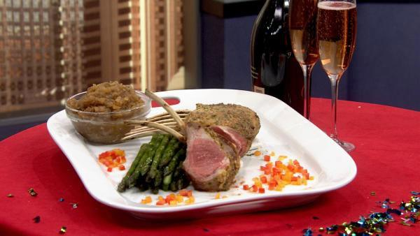Roasted Rack of Lamb with Apple Chutney