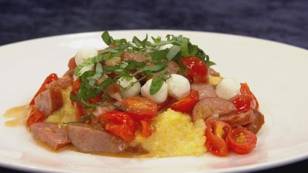Polenta with Spicy Sausage