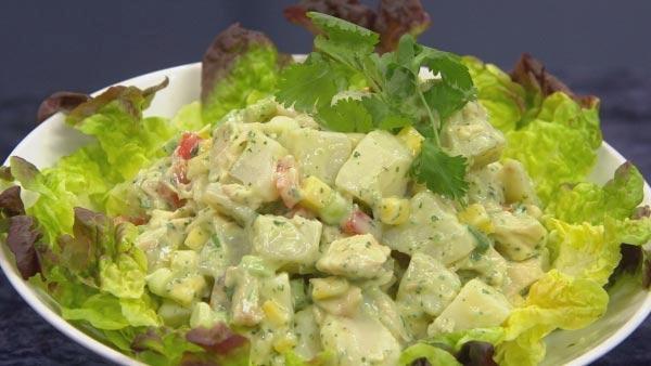 Latin Potato Salad with Avocado, Mango and Chicken