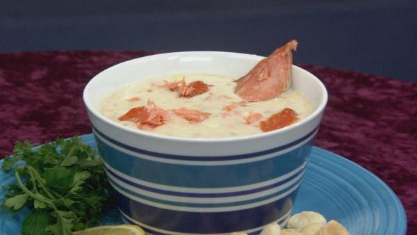 Smoked Salmon Crab Chowder