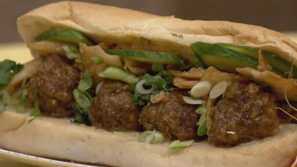 Asian meatball sandwich lets dish the live well network asian meatball sandwich forumfinder Choice Image