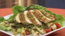 Chicken Salad with Asparagus and Knob Onions