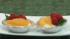Orange and Raspberry Cheesecake Tarts