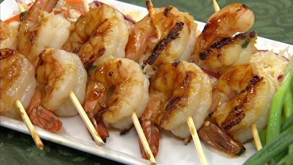 Grilled Ginger Hoisin Shrimp