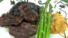 Grilled Venison and Portobello Mushrooms