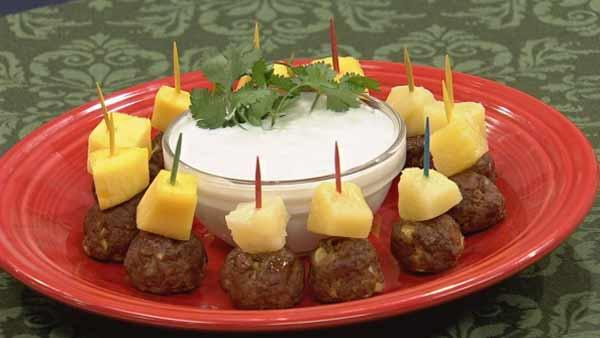 Indian Meatballs with Yogurt Raitay