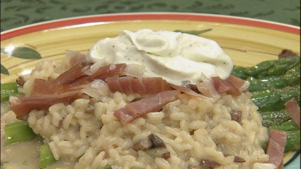 Truffled Risotto with Mushrooms, Prosciutto and Mascarpone