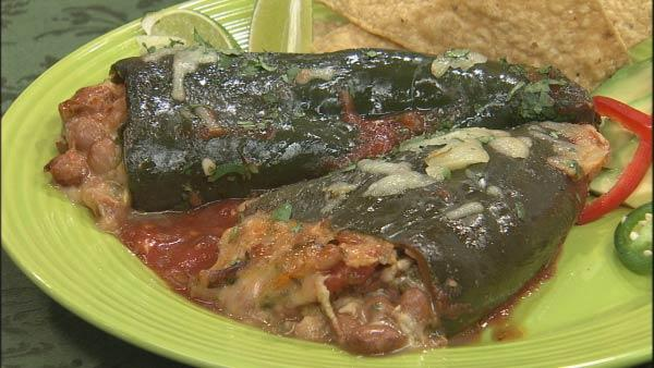 Stuffed Baked Poblano Chilies