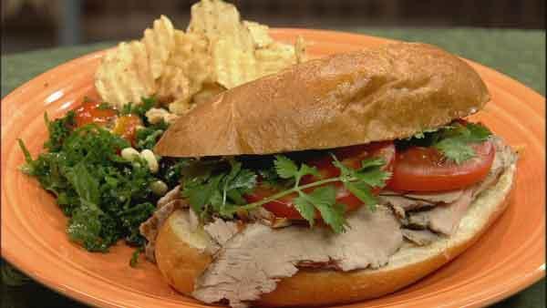 Citrus and Cilantro Pork Tenderloin Sandwiches