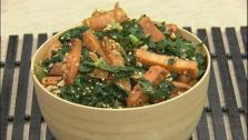 Stir-fried Sweet Potato Kale Salad