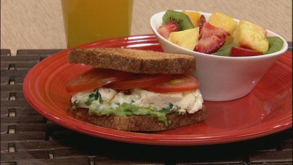 Avocado Egg White Sandwich Recipe | Let's Dish | The Live Well Network