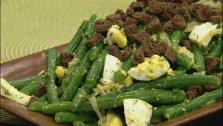 Green Beans with Hard Boiled Eggs and Dill