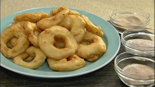 Apple Beignets with Dipping Sugars