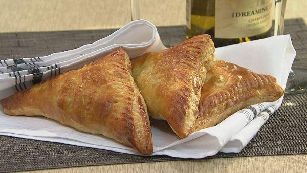 Ham, Goat Cheese and Spinach Turnovers
